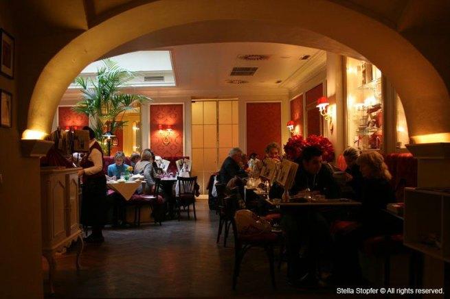 Cafe Sacher interior